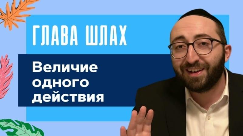 🏆 Недельная глава Шлах. Величие одного действия | Моше Питимашвили