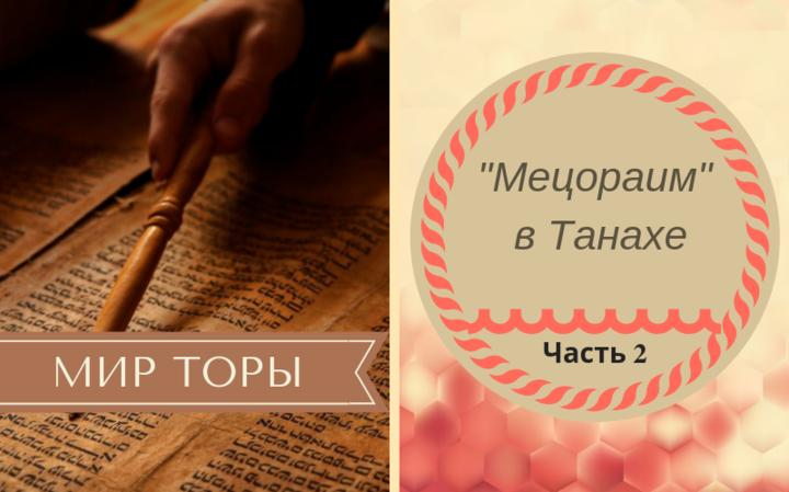 «Мецораим» в Танахе | Часть 2