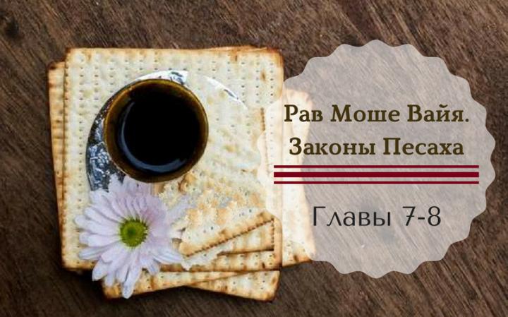 Рав Моше Вайя. Законы Песаха | Главы 7-8