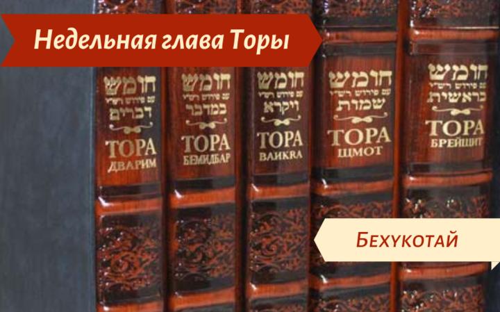 Недельная глава Бехукотай — О самоотверженности в изучении Торы и добрых делах