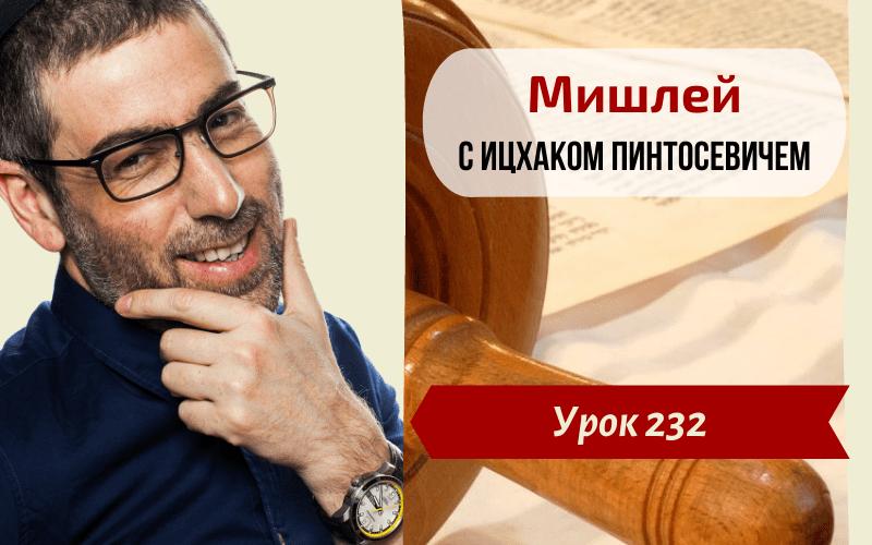 Новый Цикл Изучения Мишлей (Притчей Царя Соломона) | Урок 232. Глава 22, отрывки 1-2