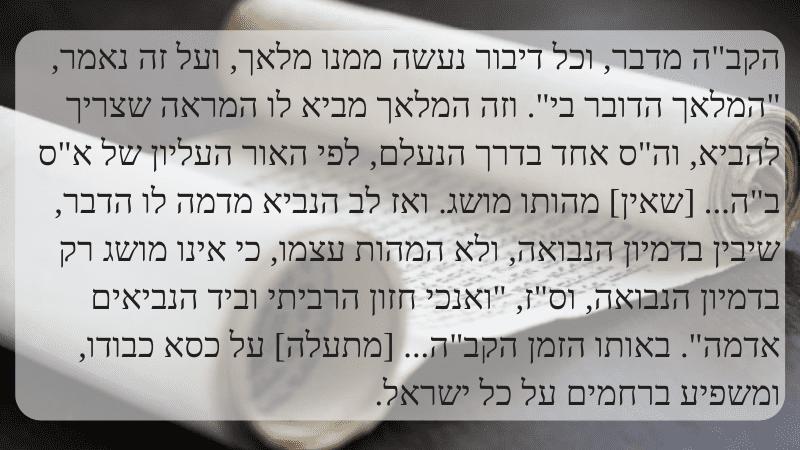 Минута скрытой мудрости   Как передается пророчество от Творца пророку?