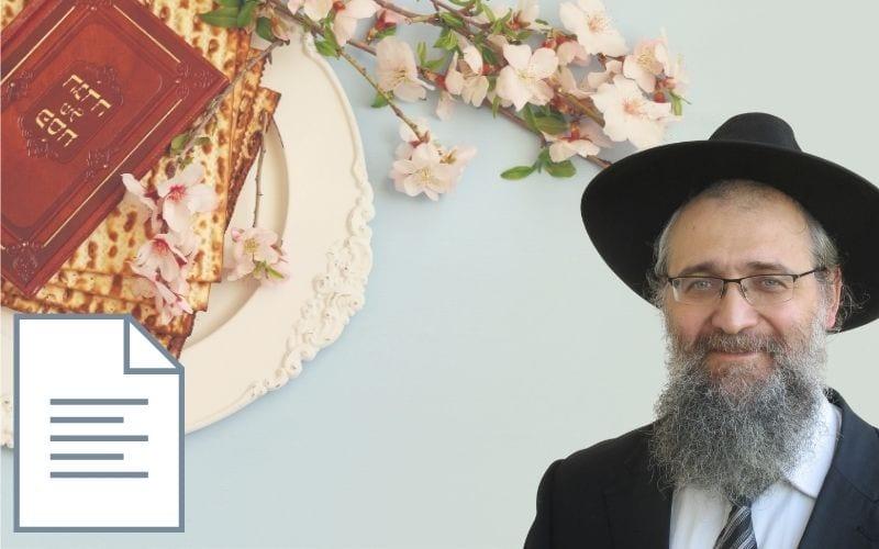 Рав Шнайдер Готовимся к Песаху Песах праздник веры