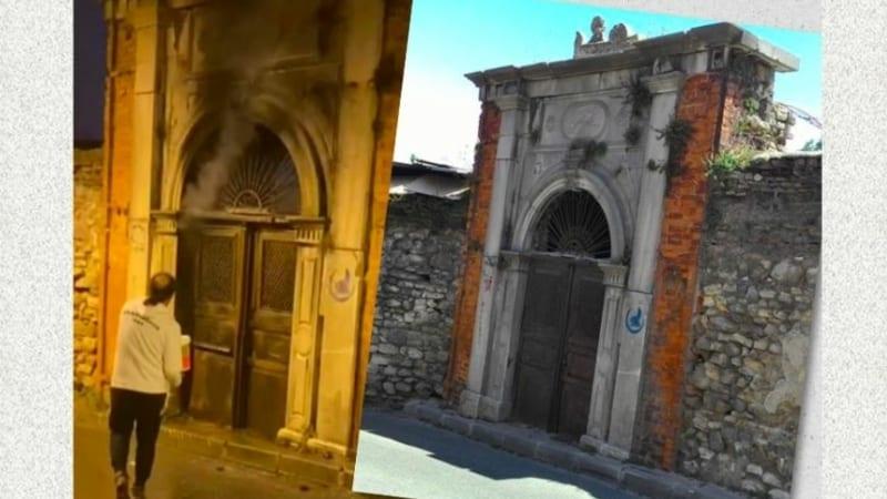 В Стамбуле подожгли ворота исторической синагоги