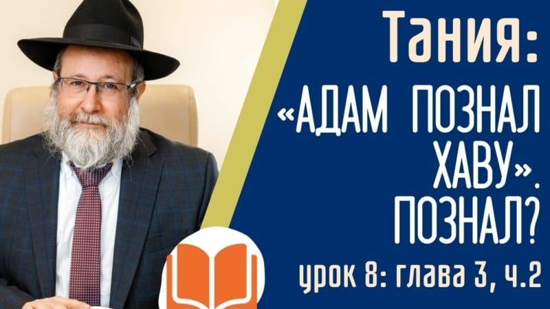 📚 ТАНИЯ: «Адам познал Хаву». Познал? Урок 8: Гл. 3, ч. 2 | Рав Лирон Эдери